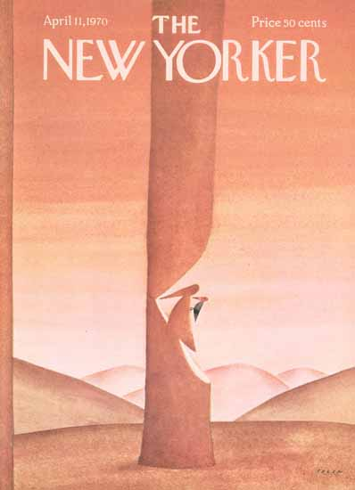 Jean-Michel Folon The New Yorker 1970_04_11 Copyright   The New Yorker Graphic Art Covers 1946-1970