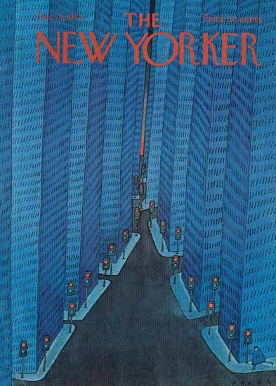Jean-Michel Folon The New Yorker 1970_12_05 Copyright | The New Yorker Graphic Art Covers 1946-1970