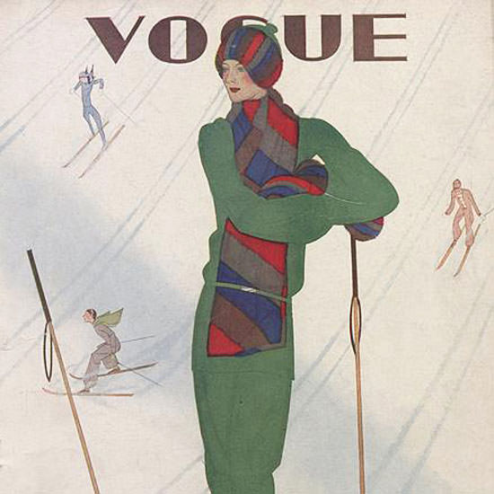Jean Pages Vogue Cover 1928-12-22 Copyright crop | Best of Vintage Cover Art 1900-1970
