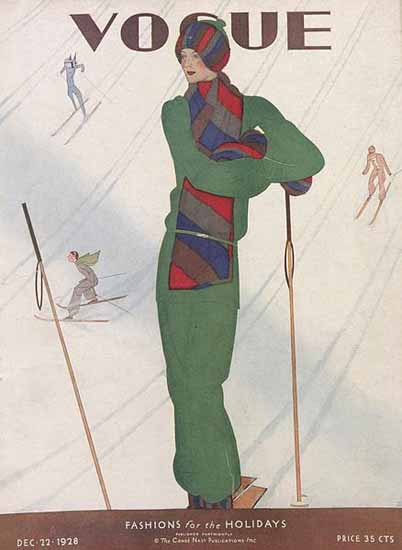 Jean Pages Vogue Cover 1928-12-22 Copyright | Vogue Magazine Graphic Art Covers 1902-1958