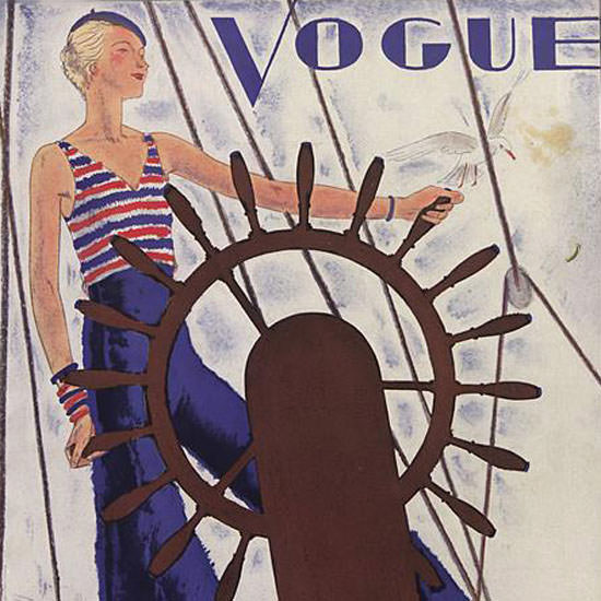 Jean Pages Vogue Cover 1931-06-01 Copyright crop | Best of Vintage Cover Art 1900-1970