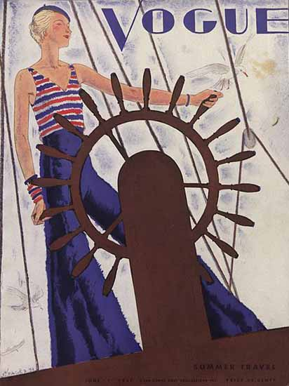 Jean Pages Vogue Cover 1931-06-01 Copyright | Vogue Magazine Graphic Art Covers 1902-1958