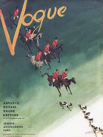 Jean Pages Vogue Cover 1938-10-15 Copyright | Vogue Magazine Graphic Art Covers 1902-1958