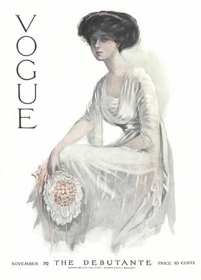 Jean Parke Vogue Cover 1909-11-20 Copyright | Vogue Magazine Graphic Art Covers 1902-1958