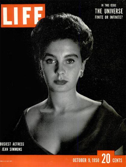 Jean Simmons Actress 9 Oct 1950 Copyright Life Magazine | Life Magazine BW Photo Covers 1936-1970
