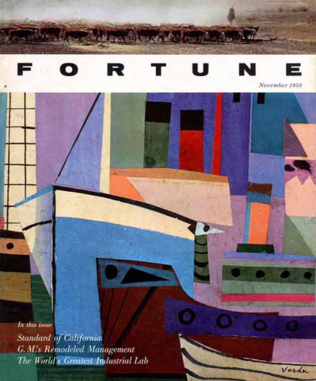 Jean Varda Fortune Magazine November 1958 Copyright   Fortune Magazine Graphic Art Covers 1930-1959