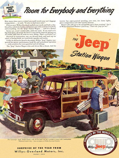 Jeep Station Wagon Willys Jeep Engine | Vintage Cars 1891-1970