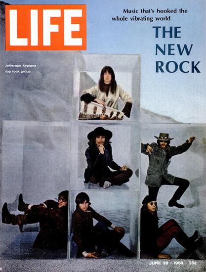 Jefferson Airplane The New Rock 28 Jun 1968 Copyright Life Magazine   Life Magazine Color Photo Covers 1937-1970