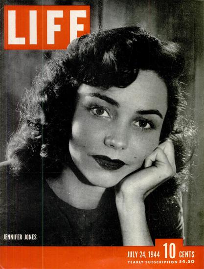 Jennifer Jones 24 Jul 1944 Copyright Life Magazine | Life Magazine BW Photo Covers 1936-1970