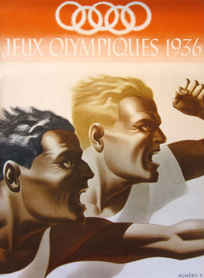 Jeux Olympiques 1936 Olympic Games Berlin 2 | Vintage Ad and Cover Art 1891-1970