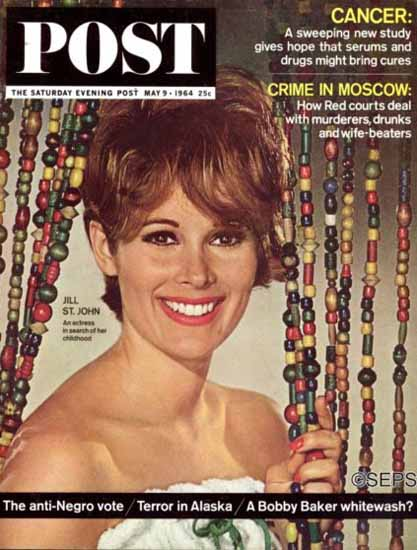 Jill St John Saturday Evening Post 1964_05_09 | Sex Appeal Vintage Ads and Covers 1891-1970