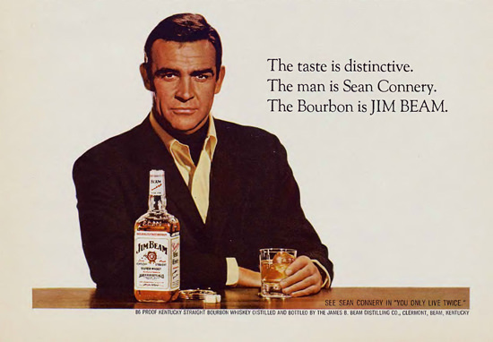 Jim Beam Sean Connery 1967 | Sex Appeal Vintage Ads and Covers 1891-1970