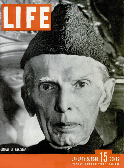 Jinnah of Pakistan 5 Jan 1948 Copyright Life Magazine | Life Magazine BW Photo Covers 1936-1970