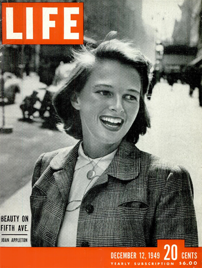 Joan Appleton 12 Dec 1949 Copyright Life Magazine | Life Magazine BW Photo Covers 1936-1970