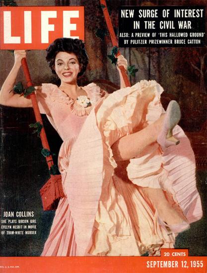 Joan Collins plays Gibson Girl 12 Sep 1955 Copyright Life Magazine   Life Magazine Color Photo Covers 1937-1970