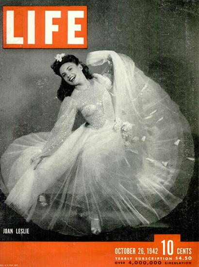 Joan Leslie 26 Oct 1942 Copyright Life Magazine | Life Magazine BW Photo Covers 1936-1970