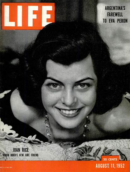Joan Rice Robin Hoods Girl Friend 11 Aug 1952 Copyright Life Magazine | Life Magazine BW Photo Covers 1936-1970