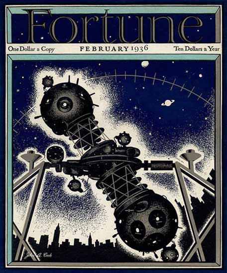 John A Cook Fortune Magazine February 1936 Copyright | Fortune Magazine Graphic Art Covers 1930-1959