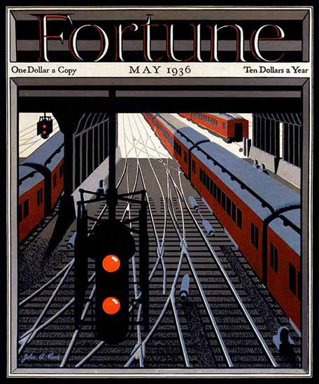 John A Cook Fortune Magazine May 1936 Copyright | Fortune Magazine Graphic Art Covers 1930-1959