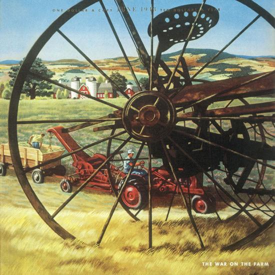 John Atherton Fortune Magazine June 1943 Copyright crop | Best of Vintage Cover Art 1900-1970