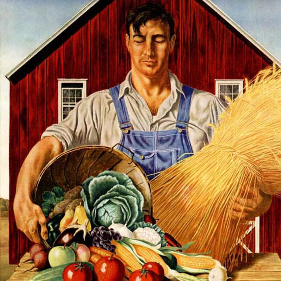 John Atherton Saturday Evening Post Bounty 1943_09_25 Copyright crop | Best of Vintage Cover Art 1900-1970