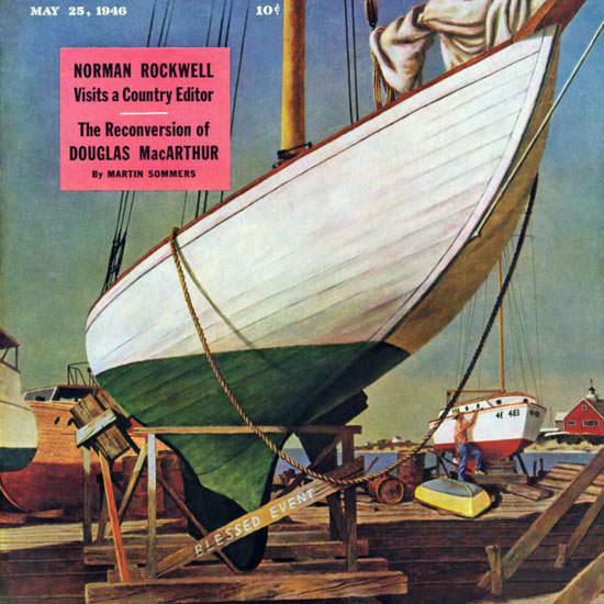 John Atherton Saturday Evening Post Dry Dock 1946_05_25 Copyright crop | Best of Vintage Cover Art 1900-1970