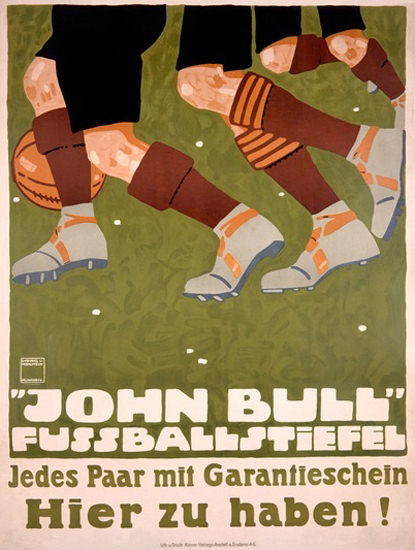 John Bull Fussballstiefel Soccer Boots Germany | Vintage Ad and Cover Art 1891-1970