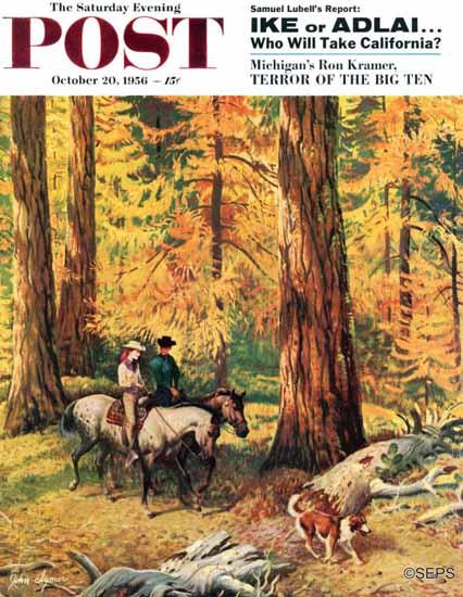 John Clymer Saturday Evening Post Fall Horseback Ride 1956_10_20   The Saturday Evening Post Graphic Art Covers 1931-1969