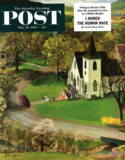 John Clymer Saturday Evening Post Rural Wedding 1954_05_29 | The Saturday Evening Post Graphic Art Covers 1931-1969