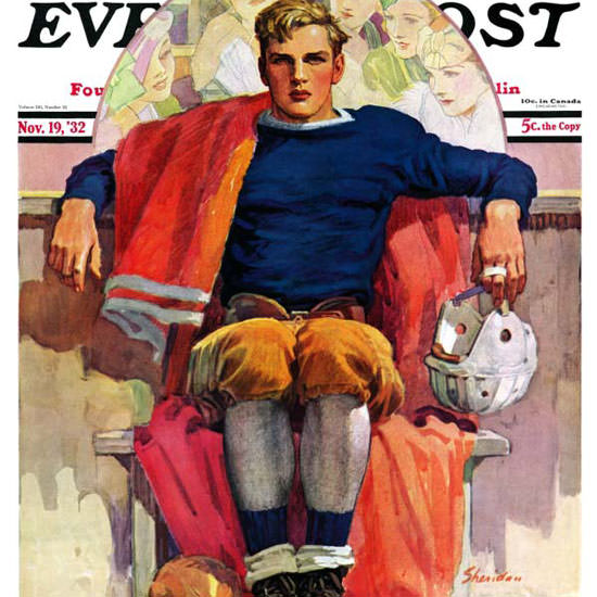 John E Sheridan Saturday Evening Post 1932_11_19 Copyright crop | Best of Vintage Cover Art 1900-1970