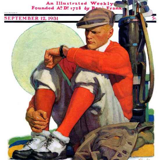 John E Sheridan Saturday Evening Post Golf 1931_09_12 Copyright crop | Best of Vintage Cover Art 1900-1970