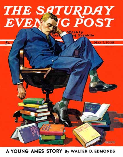 John E Sheridan Saturday Evening Post Motivated to Sleep 1938_05_07 | The Saturday Evening Post Graphic Art Covers 1931-1969