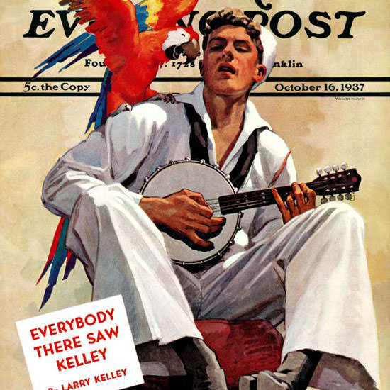 John E Sheridan Saturday Evening Post Parrot 1937_10_16 Copyright crop | Best of 1930s Ad and Cover Art