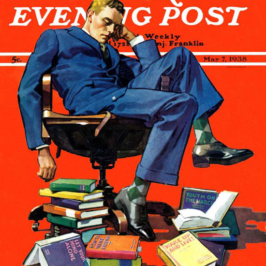 John E Sheridan Saturday Evening Post Sleep 1938_05_07 Copyright crop | Best of Vintage Cover Art 1900-1970