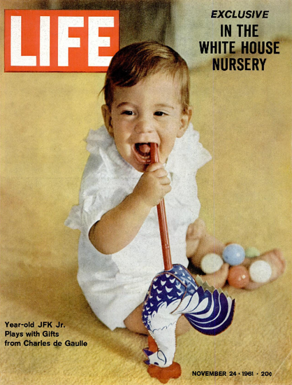 John F Kennedy Jr is 1 Year old 24 Nov 1961 Copyright Life Magazine | Life Magazine Color Photo Covers 1937-1970
