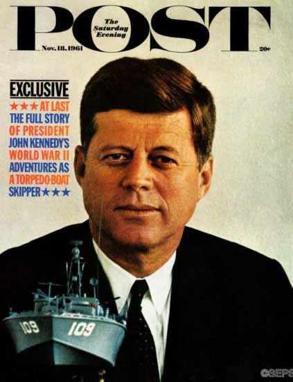 John F Kennedy PT109 Saturday Evening Post 1961_11_18   Vintage Ad and Cover Art 1891-1970