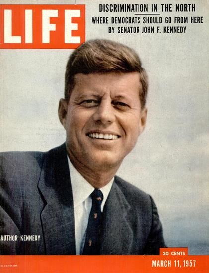 John F Kennedy Senator and Author 11 Mar 1957 Copyright Life Magazine | Life Magazine Color Photo Covers 1937-1970