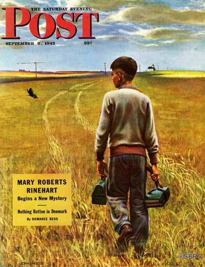John Falter Saturday Evening Post Amber Waves of Grain 1945_09_08 | The Saturday Evening Post Graphic Art Covers 1931-1969