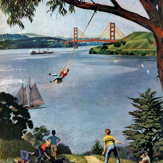 John Falter Saturday Evening Post Bay Boys 1956_05_26 Copyright crop | Best of Vintage Cover Art 1900-1970