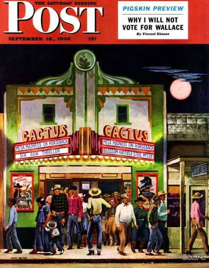John Falter Saturday Evening Post Cactus Theater 1948_09_18   The Saturday Evening Post Graphic Art Covers 1931-1969