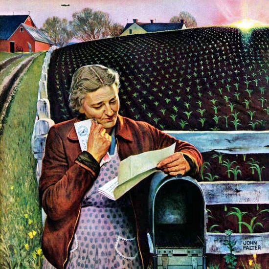 John Falter Saturday Evening Post Letter 1943_05_08 Copyright crop | Best of Vintage Cover Art 1900-1970