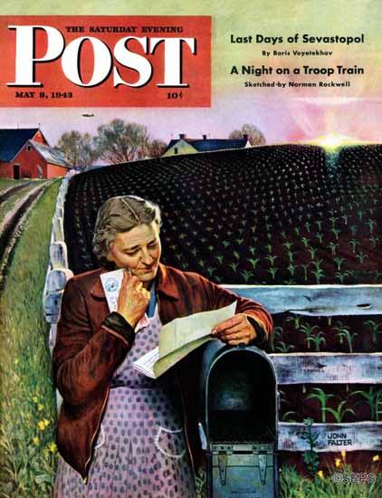 John Falter Saturday Evening Post Letter from Overseas 1943_05_08   The Saturday Evening Post Graphic Art Covers 1931-1969