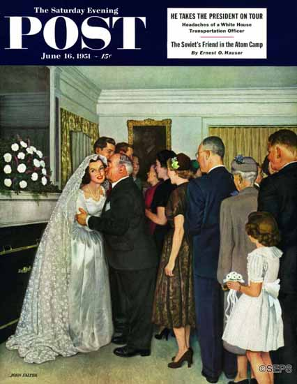 John Falter Saturday Evening Post Receptions Line 1951_06_16   The Saturday Evening Post Graphic Art Covers 1931-1969