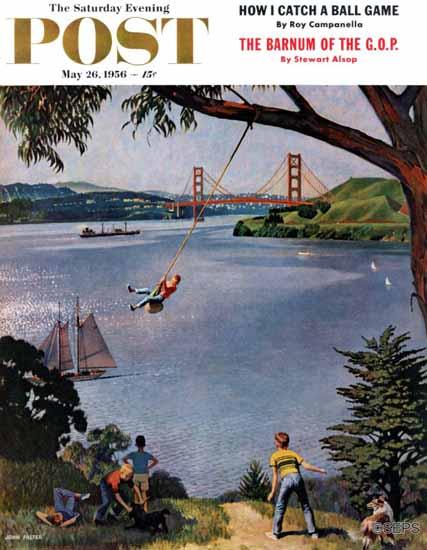 John Falter Saturday Evening Post San Francisco Bay Boys 1956_05_26 | The Saturday Evening Post Graphic Art Covers 1931-1969
