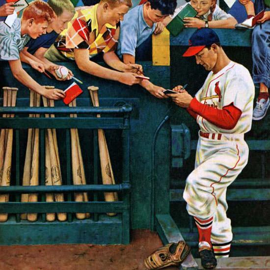 John Falter Saturday Evening Post Stan Man 1954_05_01 Copyright crop | Best of Vintage Cover Art 1900-1970