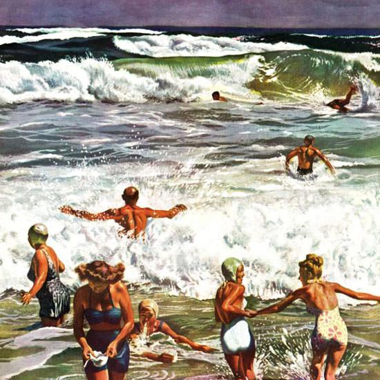 John Falter Saturday Evening Post Swimming 1948_08_14 Copyright crop | Best of Vintage Cover Art 1900-1970