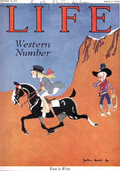 John Held Jr Life Humor Magazine 1923-01-18 Copyright | Life Magazine Graphic Art Covers 1891-1936