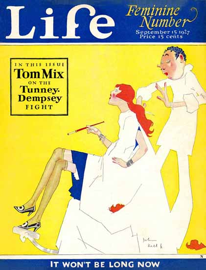 John Held Jr Life Humor Magazine 1927-09-15 Copyright | Life Magazine Graphic Art Covers 1891-1936