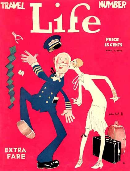 John Held Jr Life Magazine Extra Fare 1925-04-02 Copyright | Life Magazine Graphic Art Covers 1891-1936
