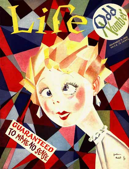 John Held Jr Life Magazine Guaranteed No Sense 1926-11-04 Copyright | Life Magazine Graphic Art Covers 1891-1936